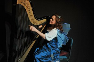 Theatre: Actor-musician harpist Rachael Gladwin as The Blue Fairy in Pinocchio