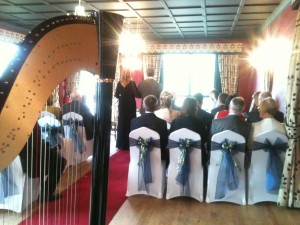 Wedding Ceremony - View From The Harp!