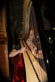 Testimonials: Rachael Gladwin playing harp for a ball at The Palace Hotel, Manchester