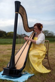 Testimonials: Harp music for an outdoor spring wedding